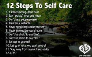 Inspirational Quotes and Sayings: 12 steps to self care