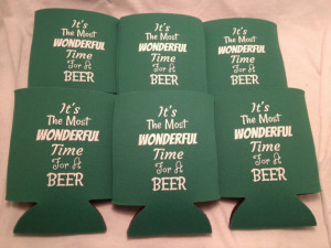 Christmas sayings Party Favor koozie personalized lot of 50 custom ...
