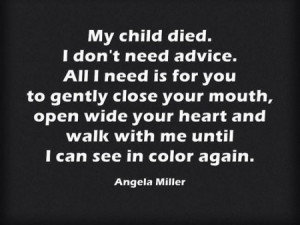 Things to Never Say to a Bereaved Parent