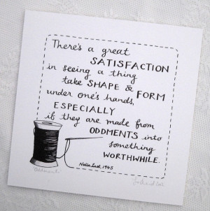 Oddments inspirational sewing and crafting quote giclee print
