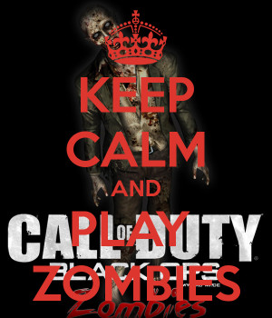 Keep Calm Quote Brains Zombie