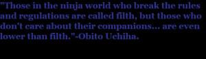 Obito Uchiha Quote by NarutoFanBelieveIt