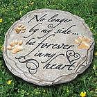 Paw Prints Sympathy Garden Stone