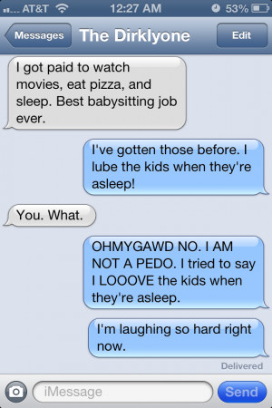Autocorrect – Babysitting job
