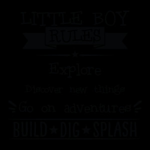 Little Boy Rules, Explore, Discover New Things, Go On An Adventure ...