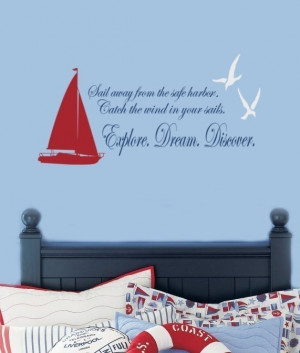 nautical quotes and sayings | Sailboat and Seagulls Nautical Vinyl ...