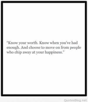 Know your worth quote
