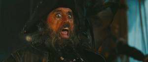 Ian McShane as Blackbeard in Pirates of the Caribbean - On Stranger ...