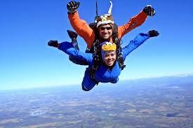 But the thing about skydiving: I feel when you do something where its ...