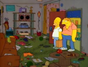 mieszkanie barney a barney okazjonalnie próbuje wydostać się z ...