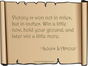 Louis L'Amour Quote on Taking Action Now