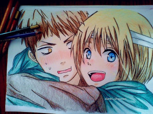 Armin and Jean (Snk) Pinning this to art because it's freaking amazing ...