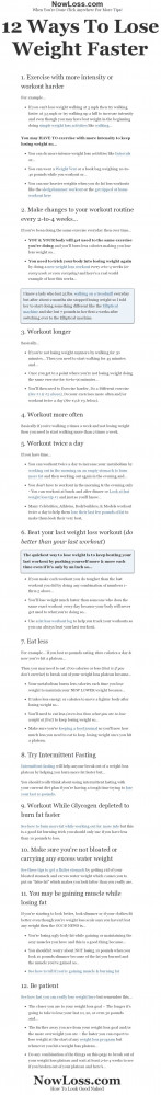 ... to lose weight faster or how to break out of a weight loss plateau