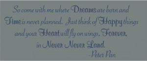 Peter Pan Quotes Never Land Never never land peter pan