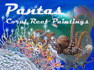 Octopus In Ocean Painting Coral reef paintings of