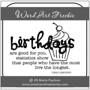 WORD ART: Birthday Quote Word Art Freebie