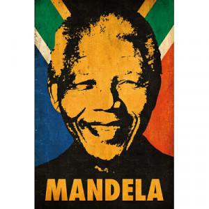Nelson Mandela Stencil Pop Art Poster