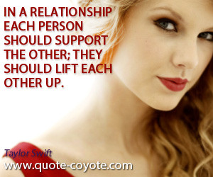 ... Each Person Should Support The Other They Should Lift Each Other Up