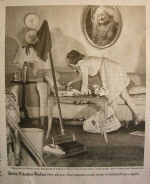 photo of betty friedan author of the feminine mystique
