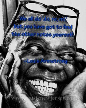 Louis Armstrong. Famous Jazz musician
