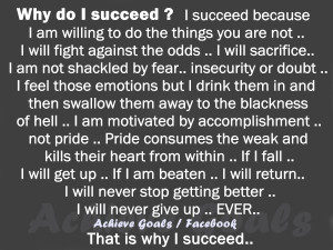 Why do I succeed ?