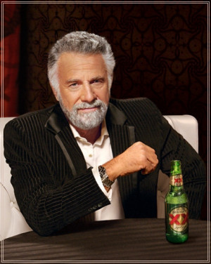 Dos Equis Guy He lives vicariously through himself