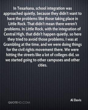 Al Davis - In Texarkana, school integration was approached quietly ...