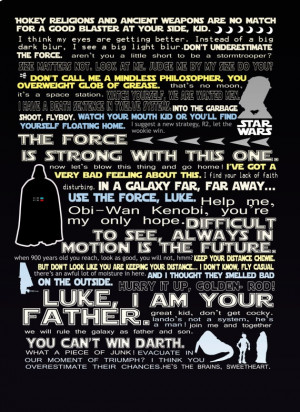 star wars funny quotes print