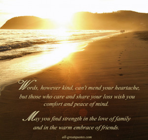 ... Share Your Loss Wish You Comfort And Peace Of Mind… ~ Sympathy Quote