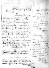 Gen. James Longstreet's letter to Col. Edward P. Alexander; and copies ...