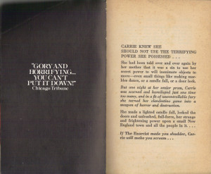 Stephen King Quotes Monsters Carrie by stephen king (1974):