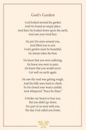 God's Garden. ~ my new favorite poem