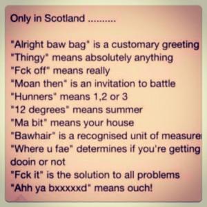 Famous Scottish Sayings