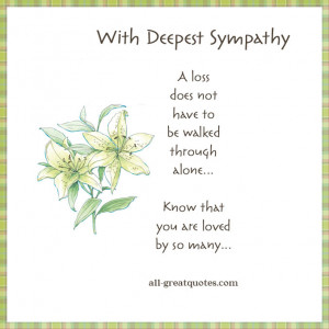 deepest sympathy poems