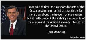 time to time the irresponsible acts of the Cuban government remind us