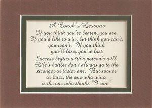 Quotes For Coaches Plaque. QuotesGram
