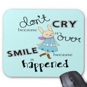 Kawaii Adorable Bunny Cartoon Inspirational Quote Mousepads