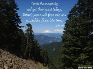 John Muir Hiking Quote