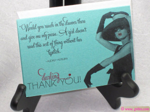 Breakfast at Tiffany's Thank You Cards - Tiffany Thank You - Audrey ...