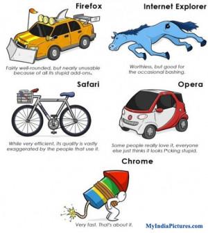 Firefox Internet Explorer Safari Opera Chrome Funny Cartoon