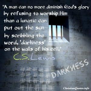 Lewis Quote – God's Glory