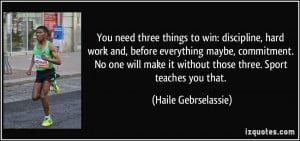 More Haile Gebrselassie Quotes