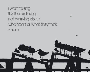 inspirational quote photography - sing