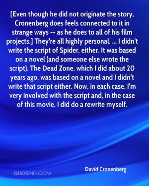 David Cronenberg Quotes