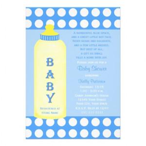 Baby Shower Poem Invitation -- Baby Boy from Zazzle.com