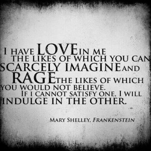 Mary Shelley quote.