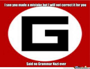 Grammar Nazi Time Meme Center