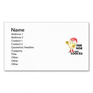 Egg Nog Business Card