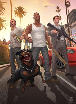 GTA 5 – Artwork von Patrick Brown