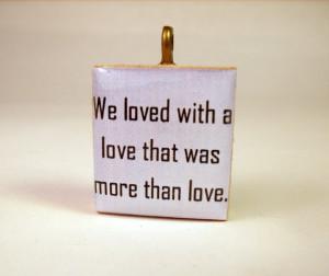 POE Scrabble Pendant / Annabel Lee Love Quote / Poet / Charm / Book ...